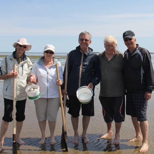 Clam fishing at Les Chalets de la Plage in Bas-Caraquet